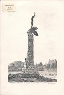 SAINT NAZAIRE * 44 * LE MONUMENT DU SOUVENIR AMERICAIN * CARTE DOUBLE GRAVEE Par J.M. JACQUIN & TIREE A L'UNITE  * - Monuments Aux Morts