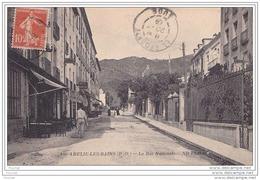 66) AMELIE LES BAINS  (PYRÉNÉES ORIENTALES) ) LA RUE NATIONALE  - (ANIMÉE) - France