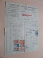 Garage SAINTE-CROIX ( PEUGEOT ) IXELLES Bruxelles - Anno 1947 ( Zie/Voir Foto ) Taxe ! - Automobilismo