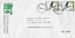 LETTRE CONGO. POUR LA FRANCE. OISEAU BIRD - Congo - Brazzaville