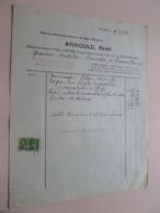 ARNOULD René Géomètre-Expert-Juré à COUVIN - Anno 1941 ( Zie/Voir Foto ) Taxe ! - Belgio