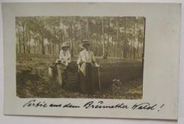 Elsaß Brumath, Frauen Im Brumather Wald, Fotokarte 1912 Aus Kehl (34416) - Elsass