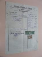 Garage GERMAIN & DURIAUX > MARIEMBOURG - Anno 1954 ( Zie/Voir Foto ) Taxe ! - Automobilismo