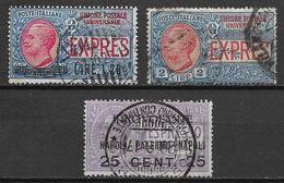 Italia - Italy, Lot Of 3 Used Stamps Mi. 72 Euro - 1900-44 Vittorio Emanuele III