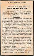 Overmere, Berlare, 1953, Basiel De Geest, De Gucht - Images Religieuses