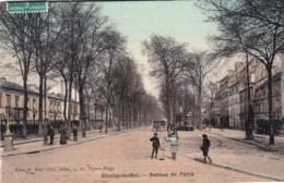 94 - CHOISY LE ROI   - Avenue De Paris ( Carte Toilée ) - Choisy Le Roi