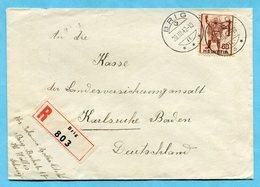 Zensurbrief Von Brig Nach Karlsruhe 1942 - Switzerland
