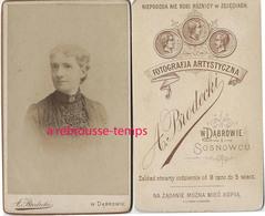 CDV  Silésie, Pologne- Portrait De Femme- Photo Brodecki - WDabrowie - Old (before 1900)