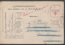 CORRESPONDANCE DES ARMEES DE LA REPUBLIQUE - SOCIETE FRANCAISE DE SECOURS AUX BLESSES MILITAIRES (theme) - Mappe