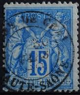 -Sage N°90 Type Ll.( CAD )   O GARE DE GRAY 30 MARS 1889 ( Second Choix ) - 1876-1898 Sage (Type II)