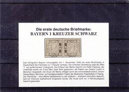 Allemagne - Bavière - Neudruck Der Bavièremarke ** - Imprimé En 1991 - Tête Bêche - Bayern