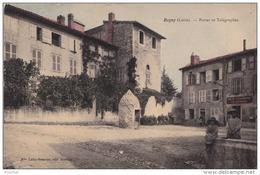 B1- 42) REGNY (LOIRE)  POSTES  ET TELEGRAPHE -  (CPA  ANIMÉE ET COLORISEE) - Other Municipalities