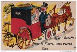 C1- 40) DAX - HUE ! COCOTTE ! DANS LE FIACRE , VOUS VERREZ DAX - CARTE A SYSTEME 10 PETITES VUES - Dax