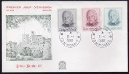 Monaco, Prince Rainier, FDC - Cartas