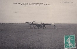 CHALON SUR SAONE 71 CHALON AVIATION 1910  MONOPLAN HANRIOT PANNE DE MOTEUR LOT DE 2 BELLES CARTES TRES RARE - Chalon Sur Saone