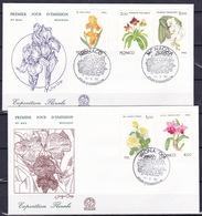 Monaco, 1990, Flora, FDC - Cartas