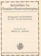 """~1930 Berlin-Lichterfelde,,Widukindverlag""""Liederblätter Der Deutschen Glaubensbewegung 4 S. - Autres"""
