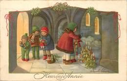EBNER Pauli (illustrateur) - Heureuse Année, Enfants Et Cadeaux. - Ebner, Pauli