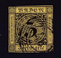 Ziffer  3 Kr. Mit Nummerstempel 87 (= Mannheim) - Baden