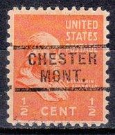 USA Precancel Vorausentwertung Preo, Locals Montana, Chester 729 - Vereinigte Staaten