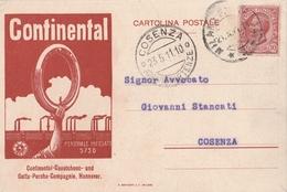 Cartolina - Postcard /  Viaggiata - Sent /   Gomme Continental - Publicité