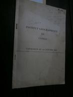 Institut Géographique Du Congo : Catalogue Au 1er Janvier 1961 Avec 15 Cartes - Aardrijkskunde