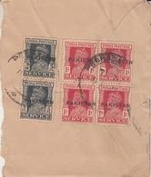 Pakistan 1947's  Peshawar SERVIVE Machine Overprints  6 Stamps On Partial Cover  #  24444  D Indien Inde - Pakistan
