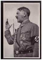 """DT- Reich (008722) Propaganda Sammelbild Deutschland Erwacht"""" Bild 95, Der Führer Spricht - Deutschland"""