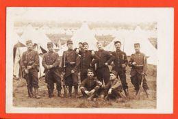 Nw873 Carte-Photo 53e Régiment Infanterie Sur Le Front Fusil LEBEL Baionnette Révolver Guerre Camp Tentes 1914-18 CpaWW1 - Guerre 1914-18