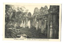 CAMBODGE---RUINES D'ANGKOR--le Bayon Aile Ouest De La Galerie Extérieure Nord---voir 2 Scans - Kambodscha