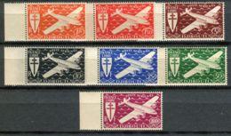 DJIBOUTI ( AERIEN ) : Y&T  N° 1/7  TIMBRES  NEUFS  SANS  TRACE DE CHARNIERE , GOMME  BICOLORE , A  VOIR . - Unused Stamps