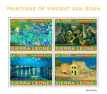 SIERRA LEONE 2019 - V. Van Gogh: Irises. Official Issue - Végétaux
