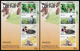 371 - Laos 2013  BF 207/A ; Block 239 A/B **  MNH  Silk Production - Laos