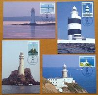 Phare Lighthouse Vuurtoren Leuchttürme Faro Fari IRLANDE EIRE Maxi Card Carte - Faros