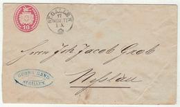 Suisse // Schweiz // Switzerland //  Entier Postaux  //  Entier Postal Au Départ De St.Gallen Le 17.11.1871 - Ganzsachen
