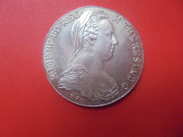 AUTRICHE THALER 1780 REFRAPPE OFFICIELLE ARGENT (V) - Oesterreich