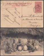 Congo Belge 1924 - Entier Postal 30 C En Carte Postale Nr. 101 - Vue: Famille Indigène Wahutu .........(DD) DC6122 - Interi Postali