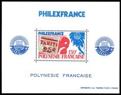 POLYNESIE 1982 - Yv. BF 6 (180) **   Cote= 21,00 EUR - Expo Phil. Philexfrance'82  ..Réf.POL25022 - Blokken & Velletjes