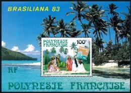 POLYNESIE 1983 - Yv. BF 7 (PA 176) **   Faciale= 0,84 EUR - Expo Phil. Brasiliana'83  ..Réf.POL25023 - Blocks & Kleinbögen