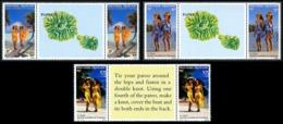 POLYNESIE 1990 - Yv. 365A à 367A = 365/367 En Tryptiques ** Cote= 2,75 EUR - Beautés Polynésiennes Paréos ..Réf.POL25021 - Französisch-Polynesien