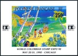 POLYNESIE 1992 - Yv. BF 20 ** SUP  Faciale= 2,10 EUR - Expo Phil. Intern. World Columbian Stamp Expo'92  ..Réf.POL23339 - Blokken & Velletjes