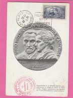 Carte Maximum N°402 (YT) Pierre Et Marie Curie - Daguin Découverte Du Radium - Cartes-Maximum