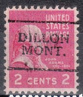 USA Precancel Vorausentwertung Preo, Locals Montana, Dillon 701 - Vereinigte Staaten