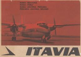 Aviazione - Compagnie Aere - Itavia - Destinazioni Coperte Roma - Bologna Roma- Forlì Ecc  - Rara - Aviation