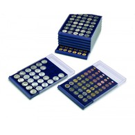 8 X 5 Cases Rondes De Ø : 29, 25.5, 23.5, 20, 21.5, 18.5, 19.25, 16.5 - PROMOTION DÉSTOCKAGE - Médailliers NOVA - Matériel