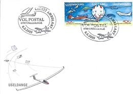 Luxembourg  -  Vol-Aérienne  -  6.6.2009  -  Vol Postal  8700 Useldange  Cachet Ambulant  -  Useldange - Poste Aérienne