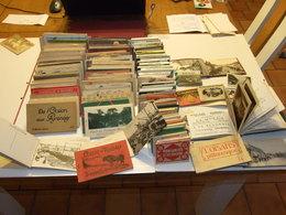 GROS LOT DE PLUS DE 1500 CARTES POSTALES EN 145 CARNETS FRANCE ET ETRANGER ANCIENNES ET SEMI MODERNES - Postcards