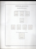 COLONIE FOGLIO ALBUM MARINI FOGLI 22 ANELLI CON TASCHINE SOMALIA OCCUPAZIONE BRITANNICA OTTIME CONDIZIONI - Album & Raccoglitori