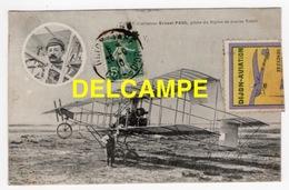 DD / AVIATION / L' AVIATEUR Ernest PAUL PILOTE DU BIPLAN DE COURSE VOISIN + VIGNETTE DU MEETING DE DIJON EN 1910 - Airmen, Fliers