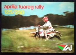 """08853 """"APRILIA TUAREG RALLY 125/250"""" VOLANTINO ILLUSTR. ORIG. - Moto"""